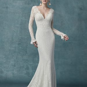 Antonia Wedding Dress Maggie Sottero | jersey sheath wedding dress