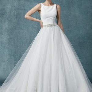 Aralyn Wedding Dress Maggie Sottero | crepe ballgown wedding dress