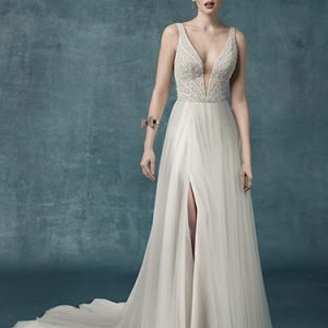 Mylene Marie Wedding Dress Maggie Sottero | tulle a-line wedding dress