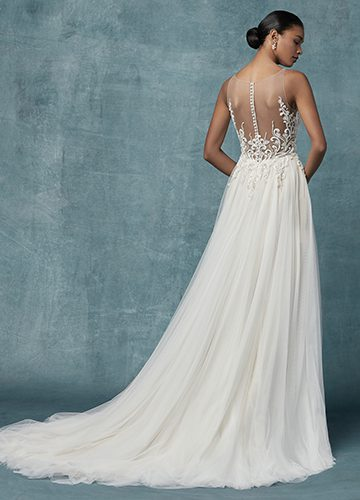 Seeley Wedding Dress Maggie Sottero | tulle a-line lace wedding dress