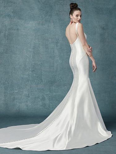 Teagan Wedding Dress Maggie Sottero | mikado fit-and-flare wedding dress