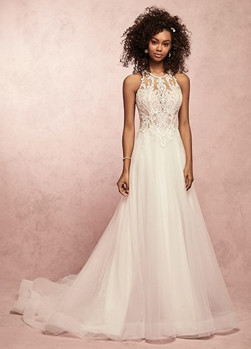 Ardelle Wedding Dress Rebecca Ingram | tulle a-line lace wedding dress