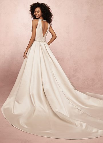 Collette Wedding Dress Rebecca Ingram | satin ballgown wedding dress