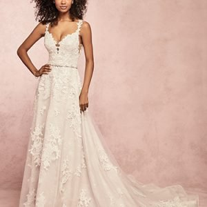 Courtney Wedding Dress Rebecca Ingram | tulle a-line lace wedding dress