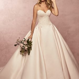 Francis Wedding Dress Rebecca Ingram | satin ballgown wedding dress