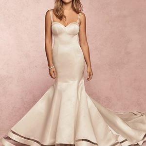 Jamilia Wedding Dress Rebecca Ingram | satin fit-and-flare wedding dress