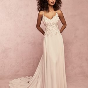 Joanie Wedding Dress Rebecca Ingram | chiffon sheath wedding dress