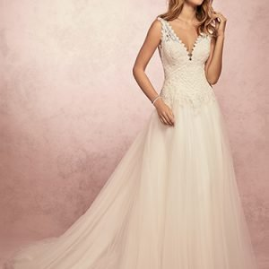 Kelis Wedding Dress Rebecca Ingram | tulle a-line lace wedding dress