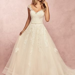 Macey Wedding Dress Rebecca Ingram | tulle a-line lace wedding dress
