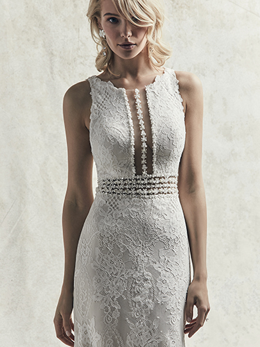 Sloane Wedding Dress Sottero and Midgley | jersey fit-and-flare lace wedding dress